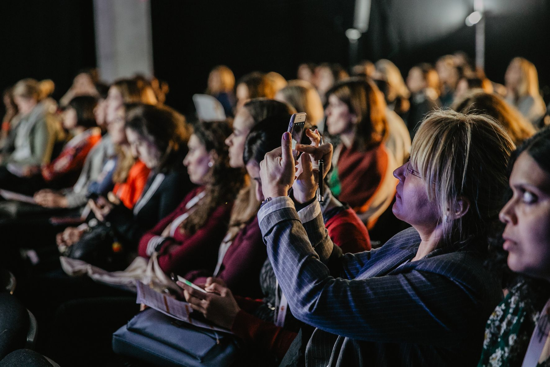 Crowd at European Women in Technology 2018